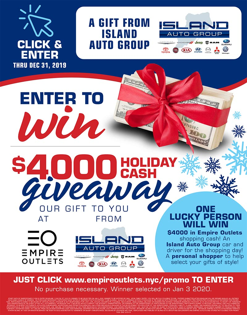 $4000 Holiday Cash Giveaway
